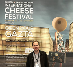 Jonathan Harris at the World Cheese Awards