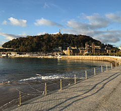 walkway along the shoreline in San Sebastian