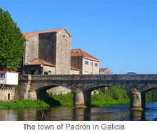 the town of padron in galicia