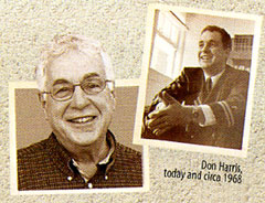 photos of Don Harris in 2009 and 1968