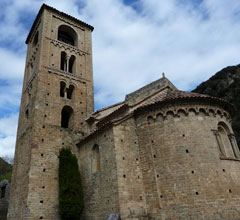 church of San Cristófol in Beget with bell tower