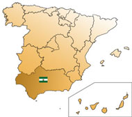 Map of Jaen