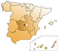 Map of Castilla - La Mancha