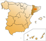 Map of Girona