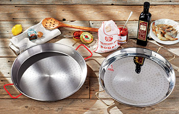 Traditional and Stainless Steel Paella Pans
