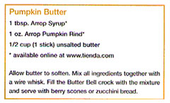 Recipe for pumpkin butter