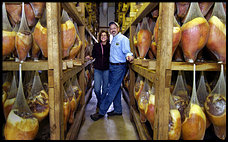 Turner Ham House owners in the curing house