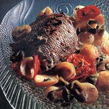 Bream Baked with Vegetables