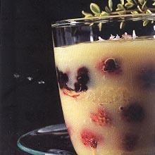 Lemon Berry Dessert Cup - Postre de Limón y Fresa