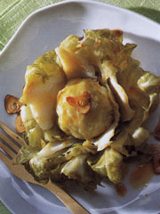 Cabbage Stuffed with Marinated Cod